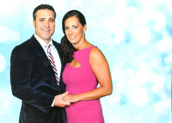 Jeremy and Candice Fouts at a direct sales event dinner for the top leaders of the company